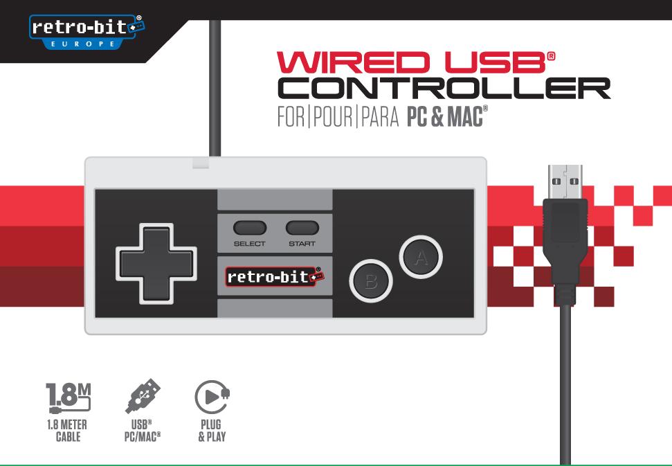 "Packshot for ""Retro-Bit 8-Bit Classic Cont. USB"""