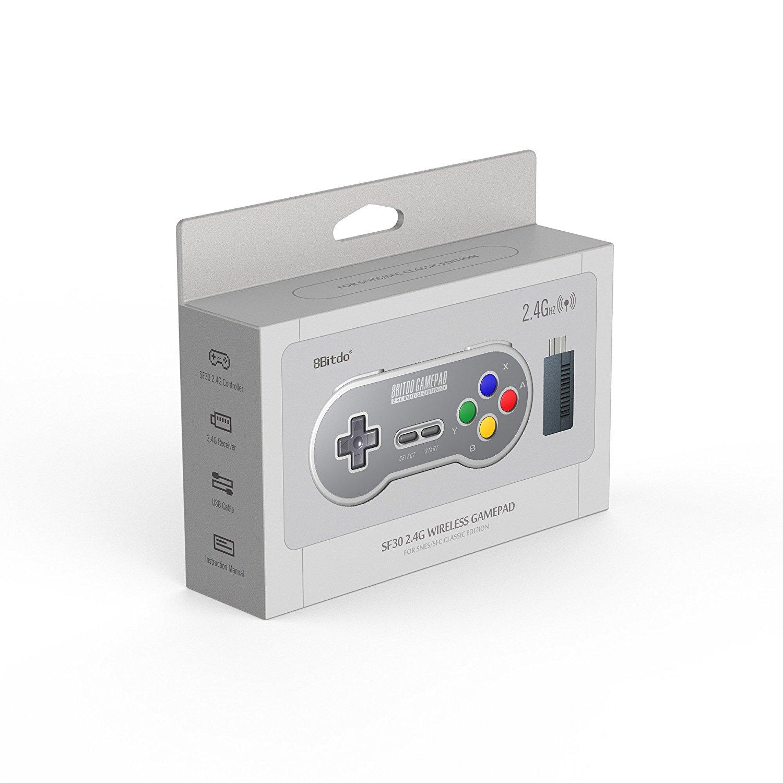 """Packshot for """"8Bitdo SF30 2.4G SNES Mini Gamepad"""""""