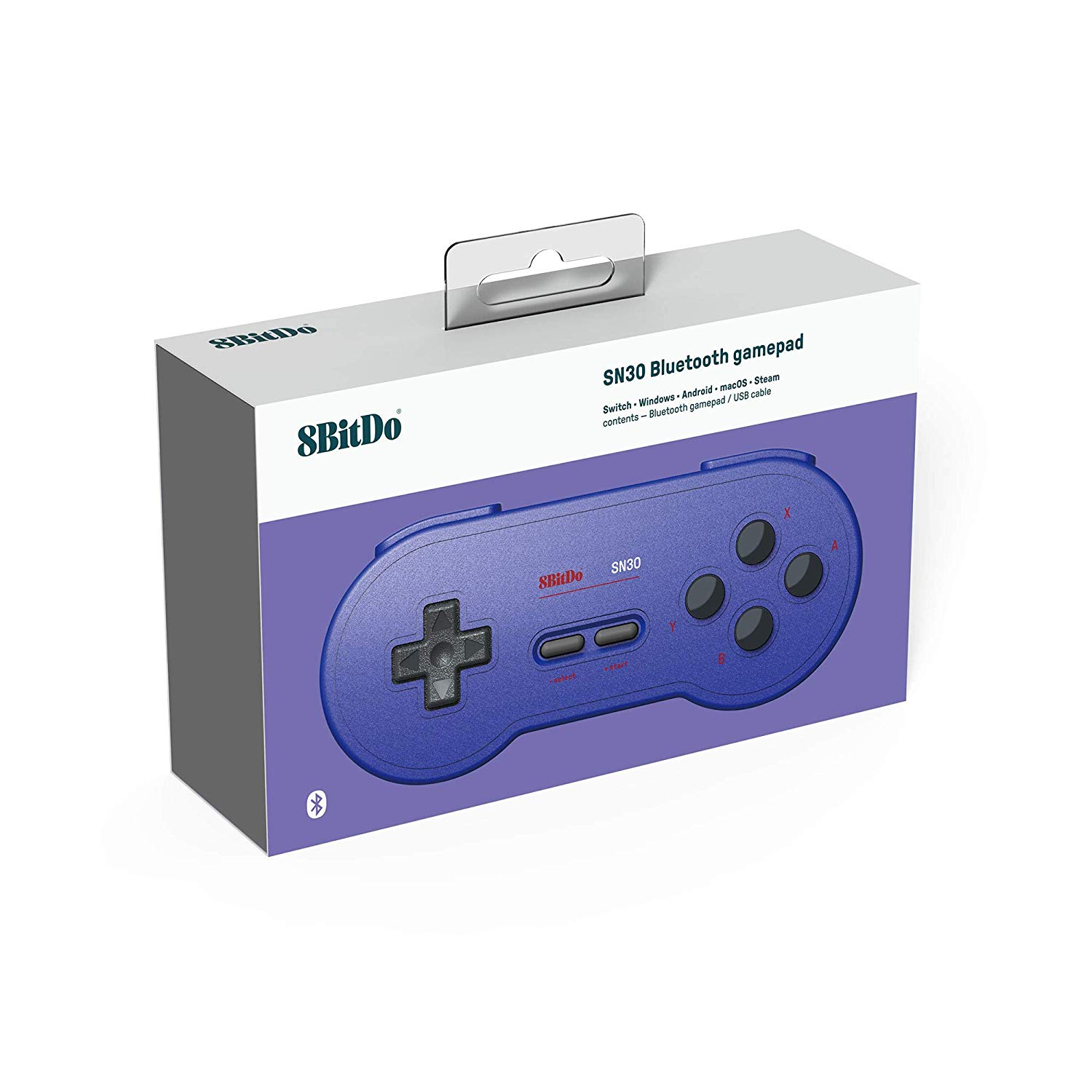 "Packshot for ""8Bitdo SN30 GP Blue Edition Gamepad"""