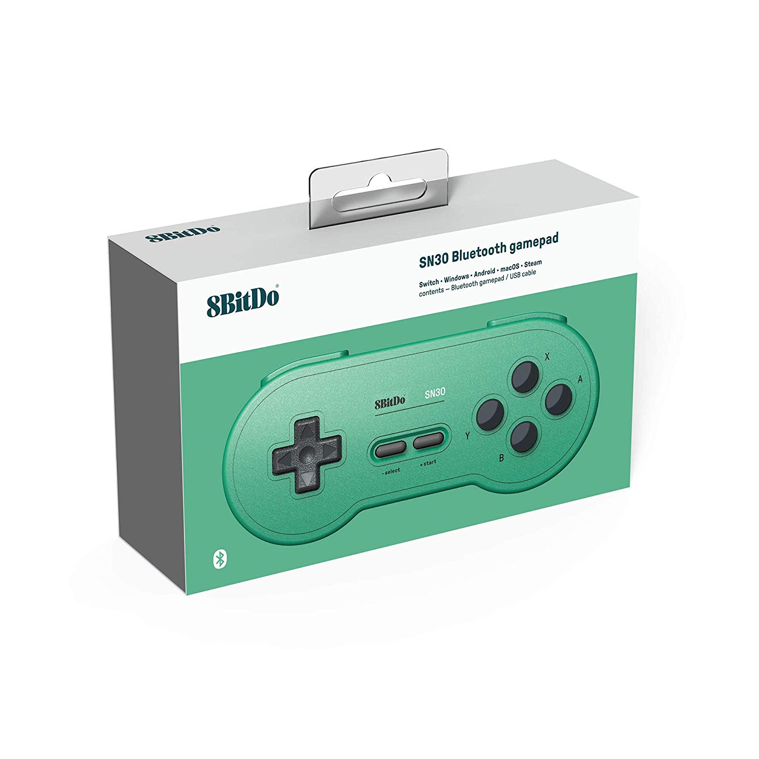 "Packshot for ""8Bitdo SN30 GP Green Ed. Gamepad"""