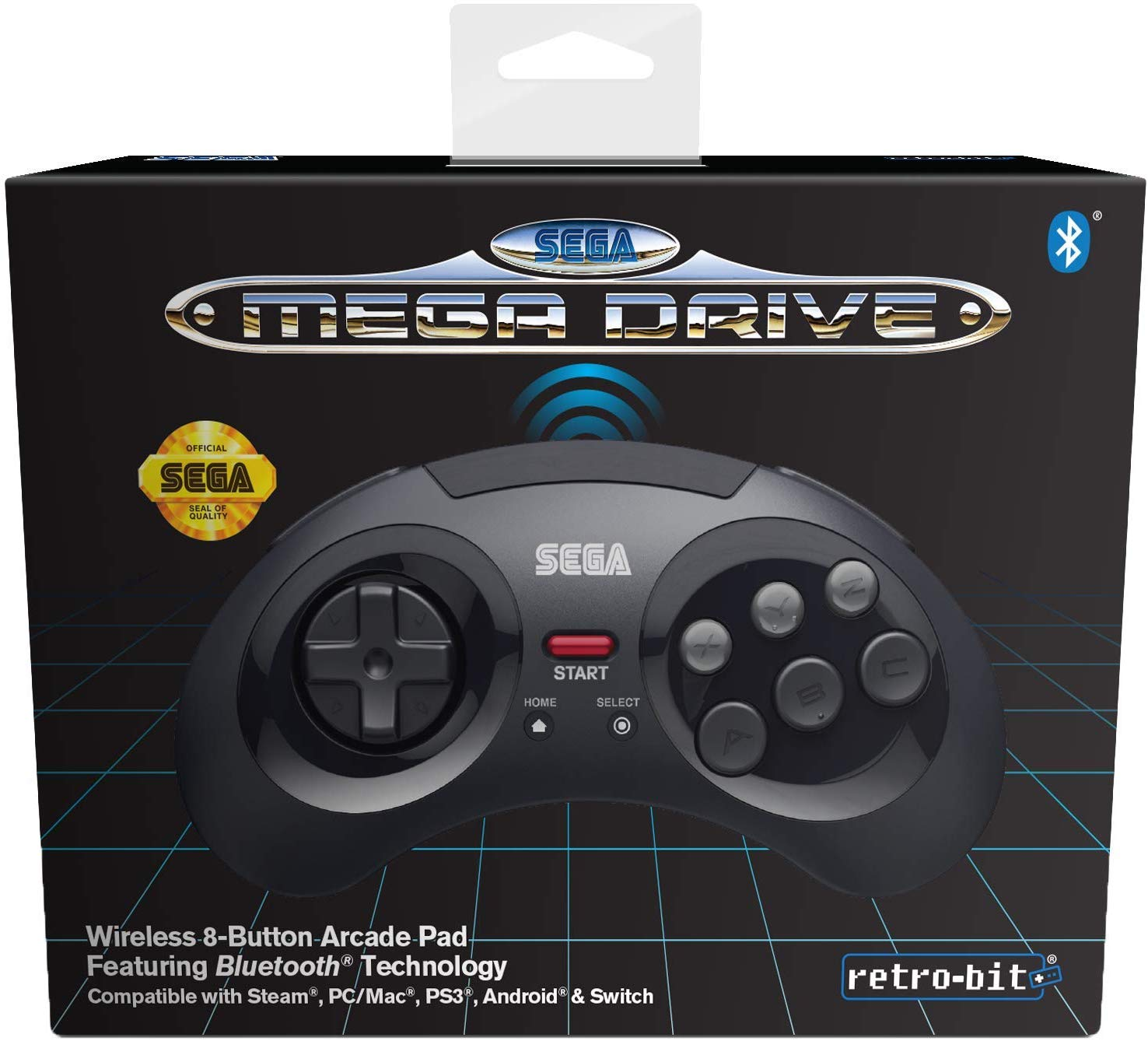 "Packshot for ""Retro-Bit SEGA MD BT Pad Black"""