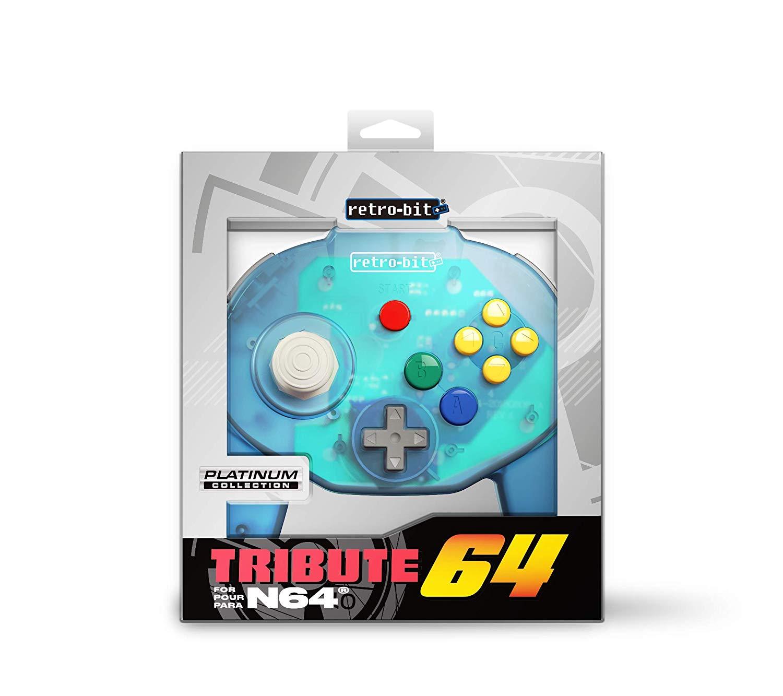"""Packshot for """"Retro-Bit Tribute 64 Ocean Blue"""""""