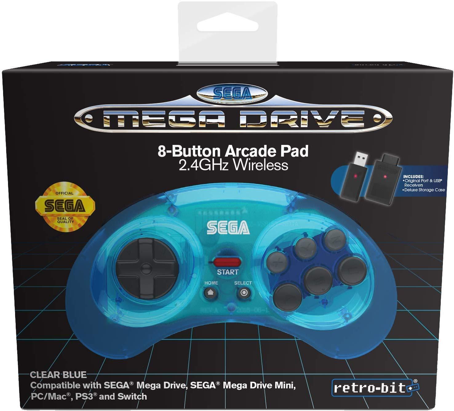 Retro-Bit SEGA MD 8-B 2.4G WL Blue