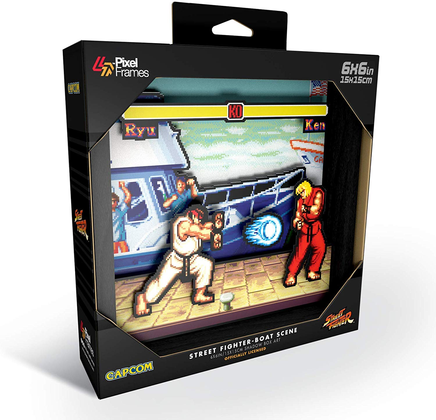 "Packshot for ""Pixel Frames Street Fighter Boat S"""