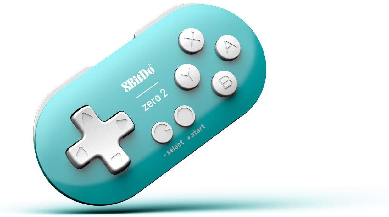 "Packshot for ""8BitDo Zero 2 Turquoise Edition"""