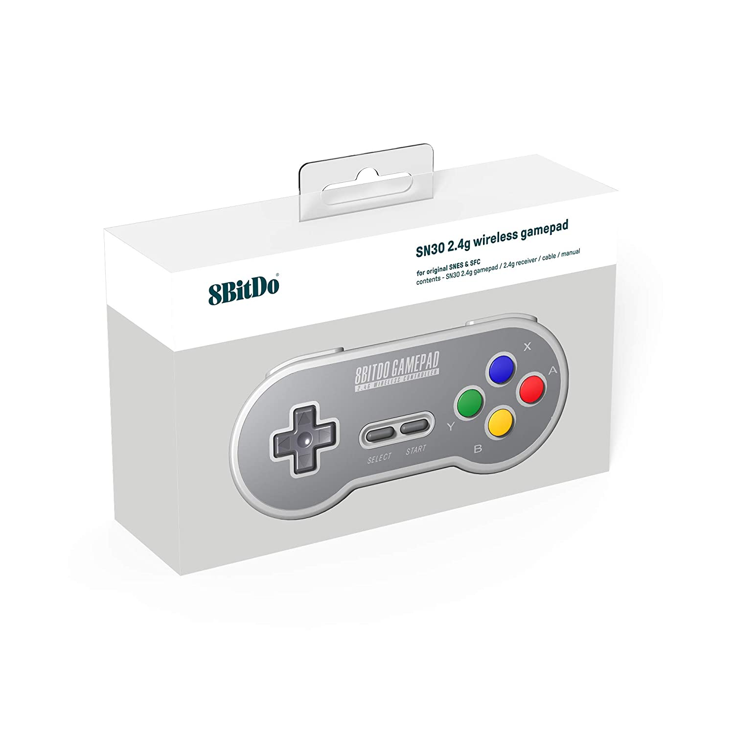 "Packshot for ""8Bitdo SF30 2.4G SNES Gamepad"""