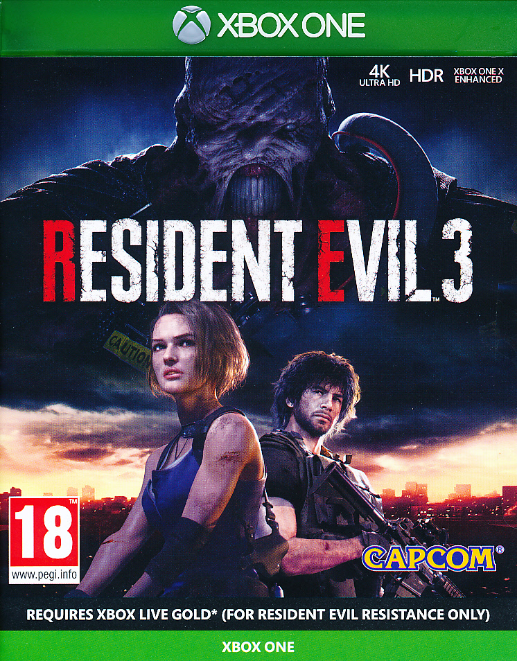 "Packshot for ""Resident Evil 3 Remake XBO"""